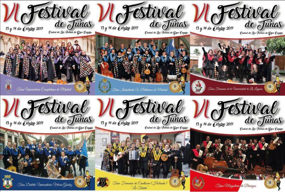 Tunas Participantes VI Festival de tunas Las Palmas